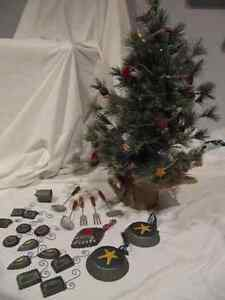 Unique kitchen-themed table-top Christmas tree