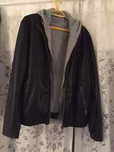 Zara Men's Basics Leather Jacket Size L