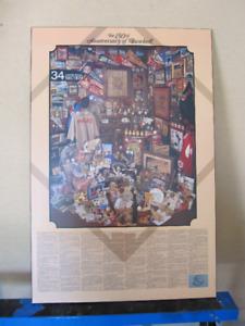 Classic Baseball Poster - The 150th Anniversary of Baseball
