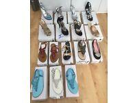 Ladies Asian designer shoe joblot sandals diamante shoes