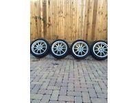 17 inch alloy wheels multi fit 4 stud corsa fiesta clio Saxo