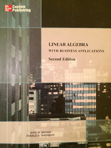 Linear Algebra with Business Applications (Second Edition) West Island Greater Montréal image 1