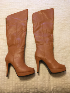 "Taupe 4"" Platform Boots"