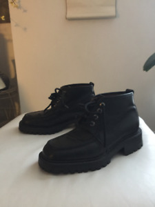 MENS BLACK LEATHER BOOTS BY PEGABO