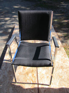 4 Stacking Chairs w/Arms–Heavy Duty Industrial Style-Steel Frame