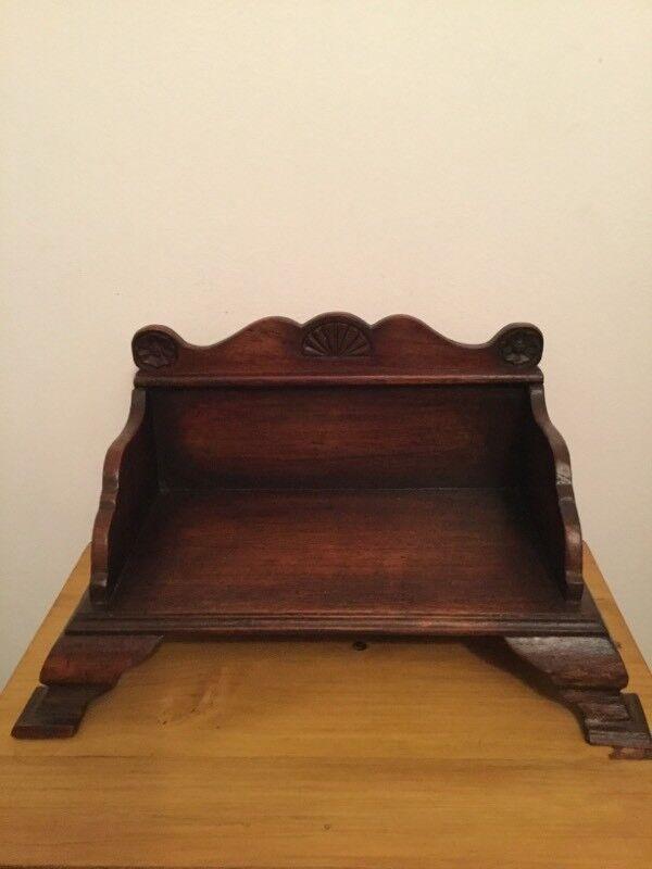 Victorian oak book shelf