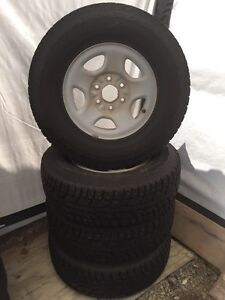 Winter tires studded with rims