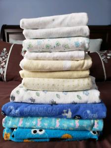 11 Receiving blankets
