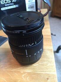 Sigma lens DSLR 28-105 1: 2.8 - 4 and filter