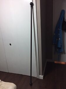 65 inch Metal Curtain Rod with Orbit Finnials