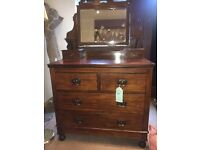 Beautiful Vintage Solid Dressing Table / Drawers with Mirror - Others Avail - UK Delivery