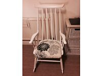 Up cycled wooden rocking chair