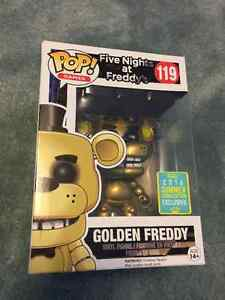 POP Five Nights at Freddy's Golden Freddy limited edition