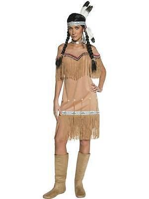 Western Indiano Donna Costume, Cowboy e Indiani Costume, Cowgirl Medio 12-14