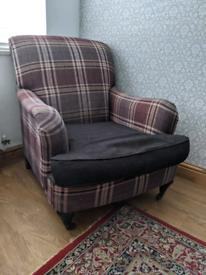 Tartan armchair