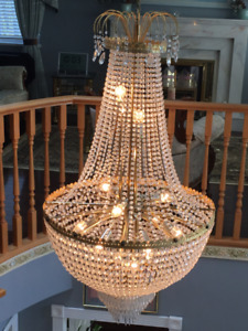 Chandelier Light Crystals, almost looks new - $499