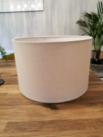 Two Next Linen Texture Cylinder Lampshades