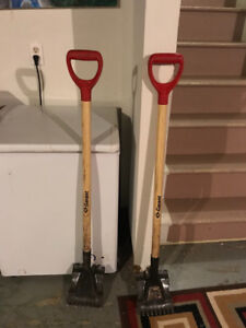 Two red rippers/ shingle shovels