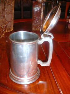 chope bière/tasse antique étain Birks2132 made in England 1963 West Island Greater Montréal image 5