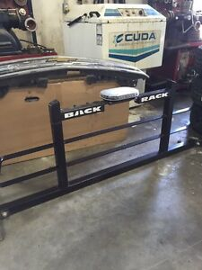 Back rack with 360 caution led light.