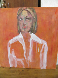 Stunning large portrait in oil NOW REDUCED!!!