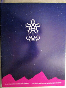1988 Calgary Olympics Closing Ceremony Program