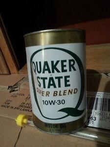 Quaker State  SUPER BLEND 10w30 Motor Tin Oil Can