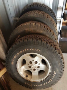 All season BF Goodrich tires. 30x9.50 R15 LT