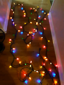 LED XMAS LIGHTS .Approx 30 feet long
