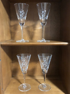Pinwheel Crystal Long Stem Glasses