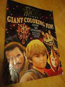 Star Wars Episode 1 Giant Coloring book