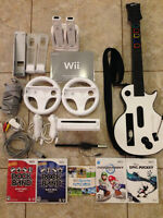 NINTENDO WII SYSTEM WITH ALL ACCESSORIES