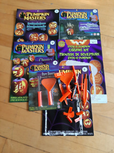 Brand new Halloween books and carving tools