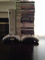 Xbox 360 console with 25 games 2 controllers