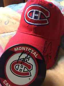 carey price signed hat and puck