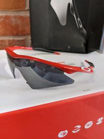 Oakley Pro-M Frame Red/Black Iridium Sunglasses