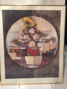 GRACIELA RODO BOULANGER OPUS II WHIMSICAL MUSICIANS LITHOGRAPH