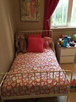 IKEA twin bed that can be made into toddler beds!