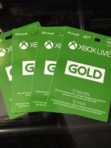 Microsoft 12 Month 1 Yr Gold Membership BRAND NEW NEVER USED