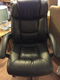 Very comfortable executive office desk chair. Almost brand new, cost 149.99 2 months ago
