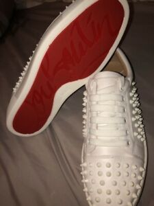 White Spike Sneakers Louboutin