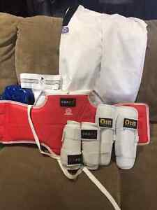 kids taekwondo uniform and sparring gear