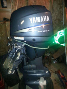 Yamaha F50 Boat Motor with controls and tach