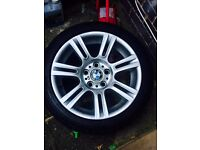 Genuine bmw 17inch alloys with tyres