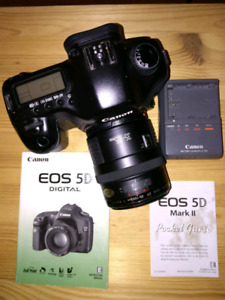 Canon 5D camera and lens