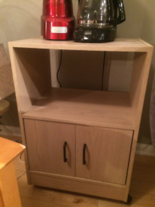 Tan Coloured Microwave Stand Table