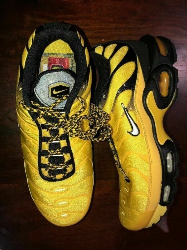 huge selection of 4c7cb 0e565 Nike TN Air Max Plus Frequency Pack Yellow Black   AV7940-700 - Trainers