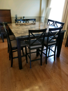 Dining room table & 8 chairs - Countee Height
