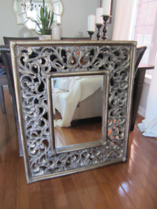 Large mirror from Bombay.