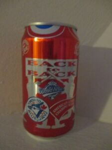 Vintage 92-93 Coca-Cola Classic Toronto Blue Jays World Series